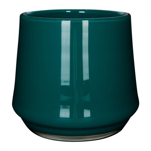 Henry Dean - Clemence Wide Vase - Petrol