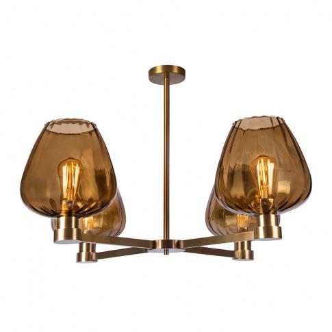 Heathfield & Co - Giselle Ceiling Light - Amber