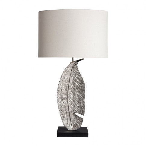 Heathfield & Co - Leaf Table Lamp - Nickel