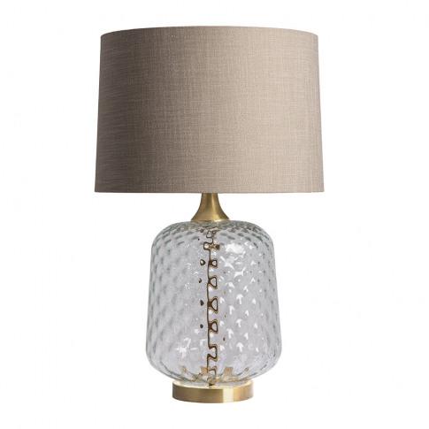 Heathfield & Co - Risco Glass Table Lamp - Clear