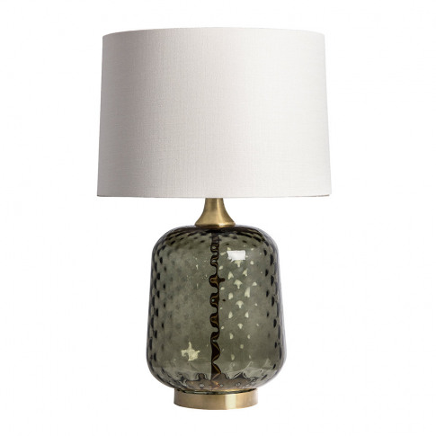 Heathfield & Co - Risco Glass Table Lamp - Olive