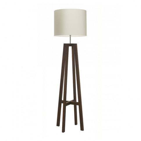 Heathfield & Co - Tripod Floor Lamp - Antique Oak