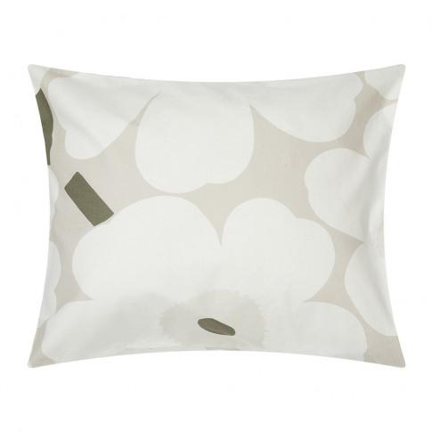 Marimekko - Unikko Pillowcase - Beige/White/Green - ...