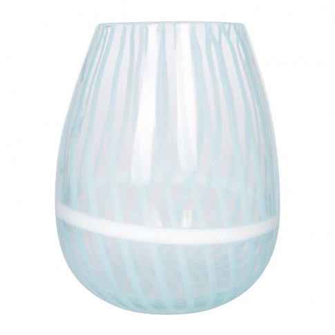 Anthropologie Home - Venezia Cane Vase - Blue - Medium