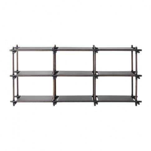 Menu - Stick Shelving System - Black/Dark Ash