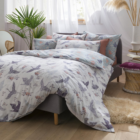 Fat Face - Floral Flight Duvet Cover - Iris - Super ...