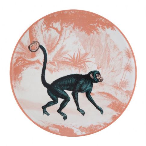 Les Ottomans - La Menagerie Porcelain Plate - Monkey