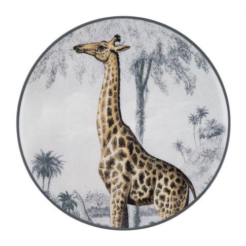 Les Ottomans - La Menagerie Porcelain Plate - Giraffe