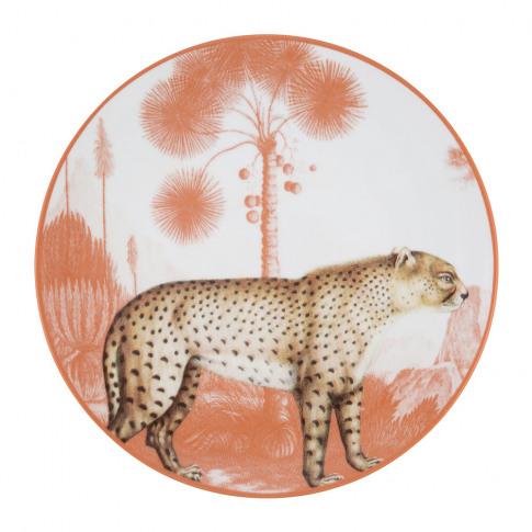 Les Ottomans - La Menagerie Porcelain Plate - Leopard