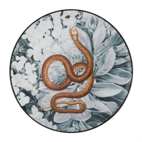 Les Ottomans - La Menagerie Porcelain Plate - Snake