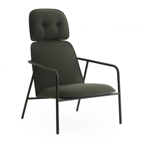 Normann Copenhagen - Pad Lounge Chair - Black/Synergy