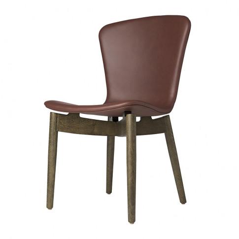Mater - Shell Dining Chair - Cognac