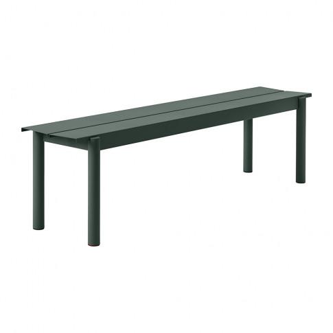 Muuto - Linear Steel Bench - Dark Green