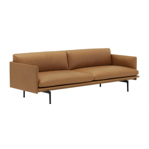 Muuto - Outline 3 Seater Sofa - Cognac