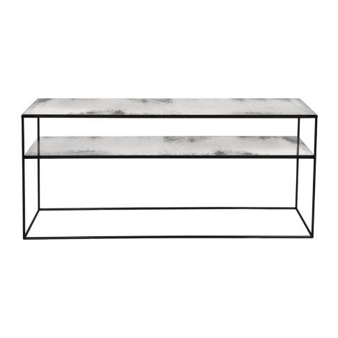 Ethnicraft - Heavy Aged Mirror Sofa Console - Clear