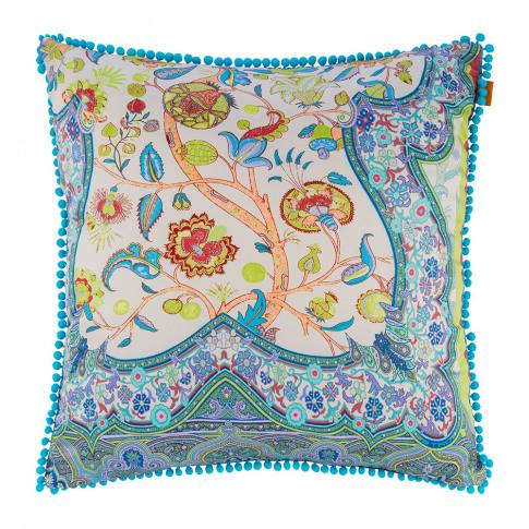 Etro - Salamanca Leon Cushion With Piping - 60x60cm - Blue