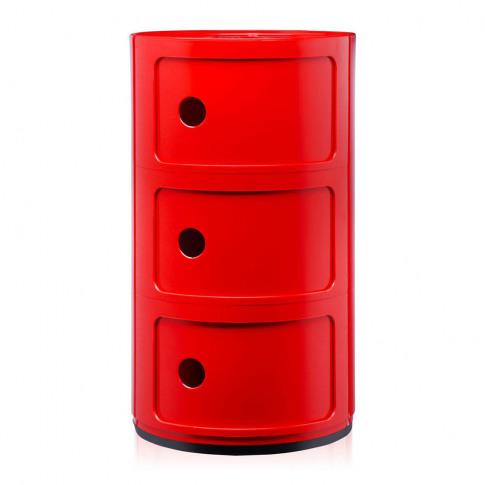 Kartell - Componibili Storage Unit - Red - Medium
