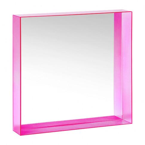 Kartell - Only Me Mirror - Fuchsia - 50x50cm
