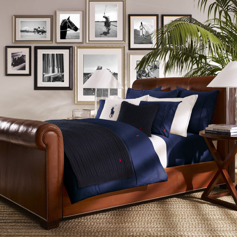 Ralph Lauren Home - Polo Player Duvet Cover - Navy -...