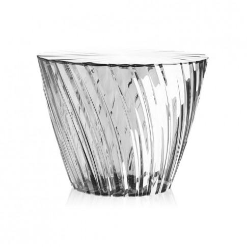 Kartell - Sparkle Stool/Side Table - 35cm - Crystal