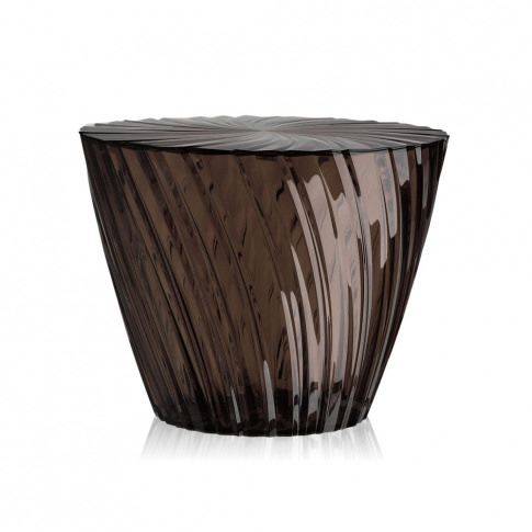 Kartell - Sparkle Stool/Side Table - 35cm - Smoke