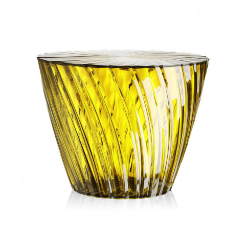 Kartell - Sparkle Stool/Side Table - 35cm - Honey