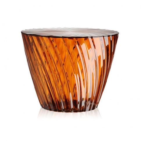 Kartell - Sparkle Stool/Side Table - 35cm - Amber
