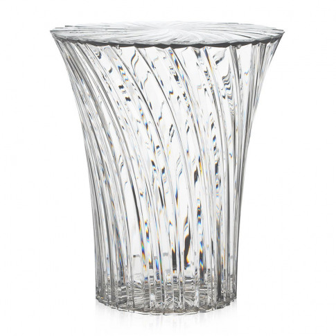 Kartell - Sparkle Stool/Side Table - 44cm - Crystal