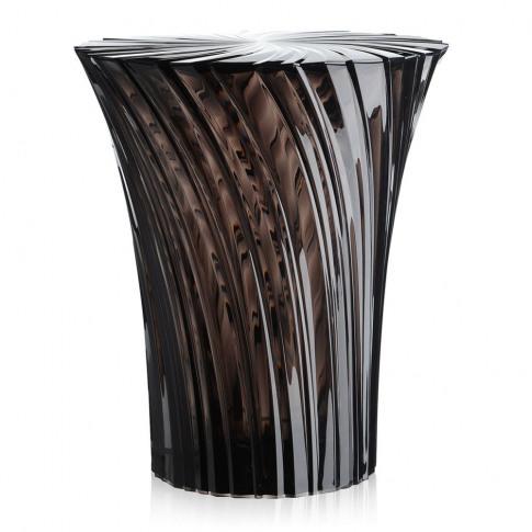 Kartell - Sparkle Stool/Side Table - 44cm - Smoke