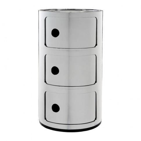 Kartell - Componibili Storage Unit - Chrome - Medium
