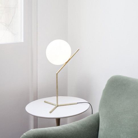 Flos - Ic T1 High Table Lamp - Brass