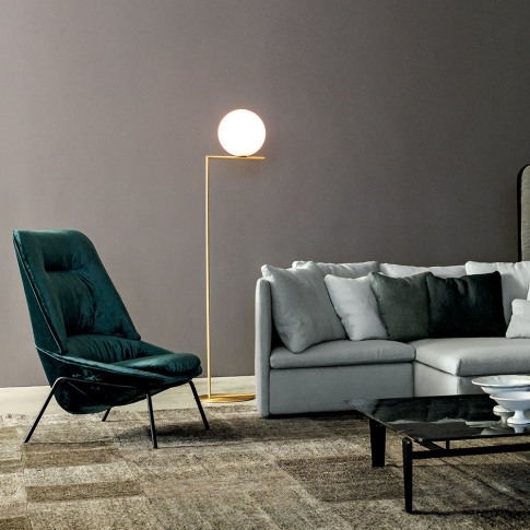 Flos - Ic Floor Lamp - Brass - F2