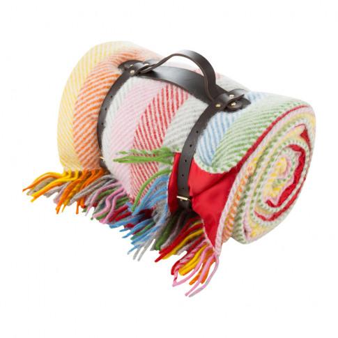 Tweedmill - Pure New Wool Polo Picnic Rug - Rainbow ...