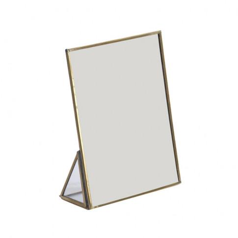 Nkuku - Kiko Standing Mirror - Antique Brass - Small