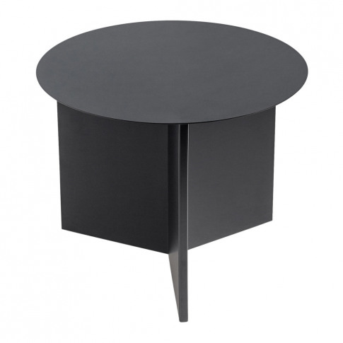 Hay - Slit Table - Round - Black