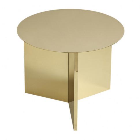 Hay - Slit Table - Round - Brass