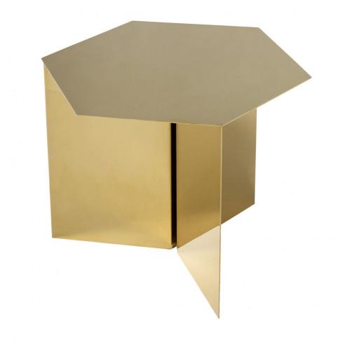 Hay - Slit Table - Hexagon - Brass