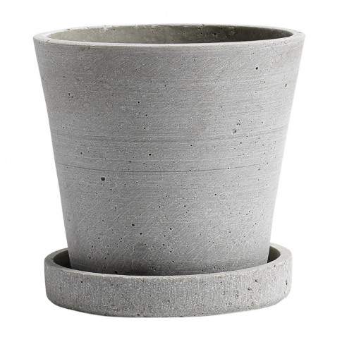Hay - Polystone Flowerpot & Saucer - Grey - S
