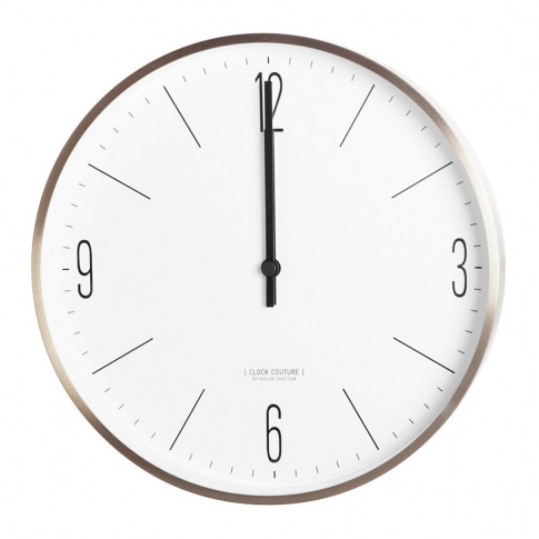 House Doctor - Wall Clock - Gold/White