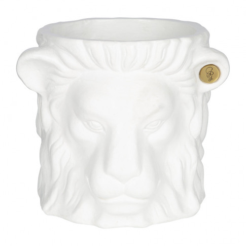 Garden Glory - Terracotta Lion Plant Pot - Small - W...