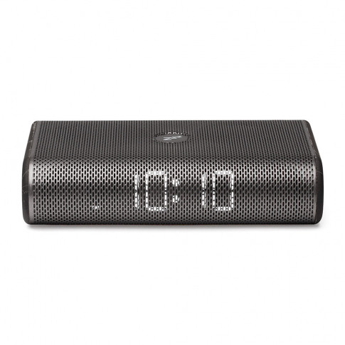 Lexon - Miami Time Led Clock Radio - Gun Metal/Black...