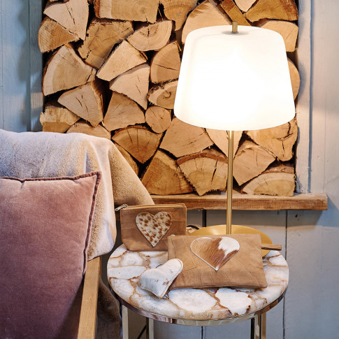 A by Amara - Frost Table Lamp - White