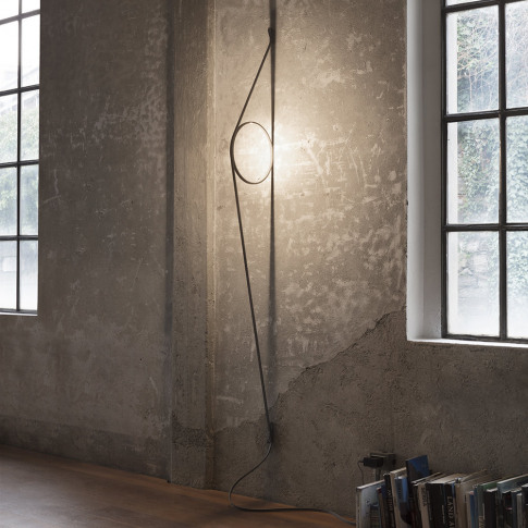 Flos - Wirering Wall Light - Grey Cable/Gold Ring
