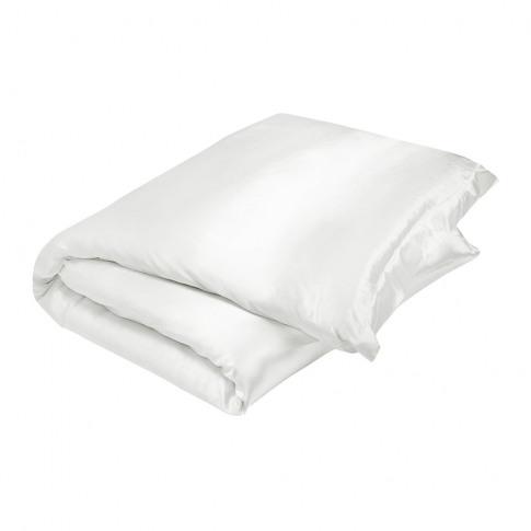 Gingerlily - 100% Silk Duvet Cover - White - Super King