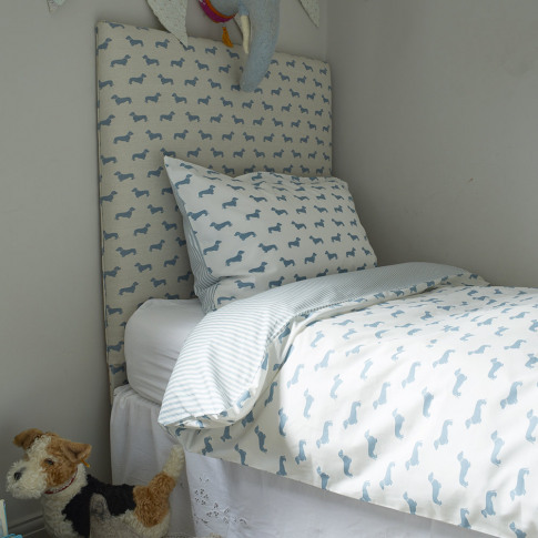 Emily Bond - Dachshund Blue Duvet Set - Double