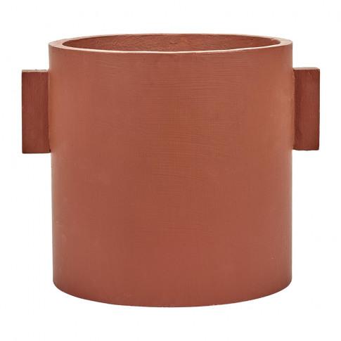 Serax - Concrete Round Pot - Red/Brown - Large