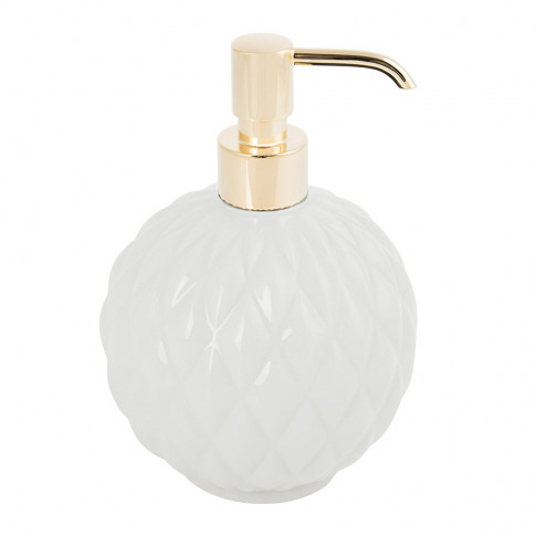 Villari - Black Tie Round Soap Dispenser - White
