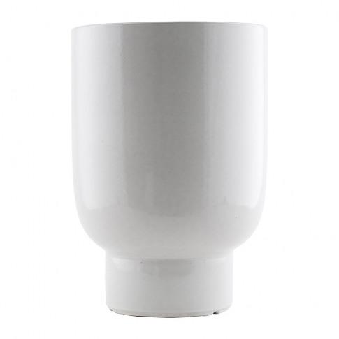 House Doctor - Round Planter - White