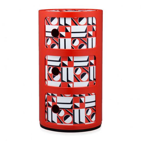 Kartell - La Double J Componibili Storage Unit - Red...