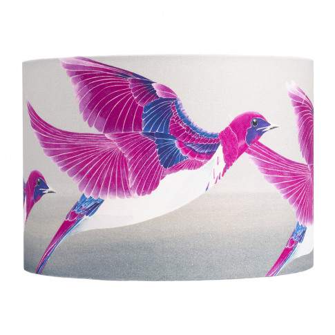 Anna Jacobs - Violet Backed Starling Lamp Shade - Me...